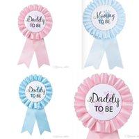 Spilla neonato Party Decorare nuovo stile distintivo Mommy Daddy da essere rosa blu creativo moderno semplicità corsage fabbrica vendita diretta 2JQ P1