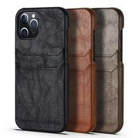 정품 가죽 럭셔리 케이스 아이폰 12 프로 최대 11 XS 최대 XR XS 8 7 카드 포켓 보호 커버