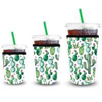 Mangas de café heladas 3 Paquete Reutilizable Helado de manga de café aislante Manga para bebidas frías Bebidas Bebidas Titular de taza de neopreno IIF3137