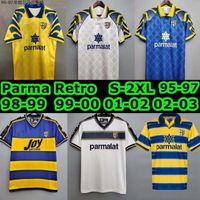 Retro Parma Calcio 1913 Jerseys de futebol 1995 1996 1998 1999 2000 2002 2003 95 96 97 98 99 01 02 03 Stoichkov camisa de futebol vintage