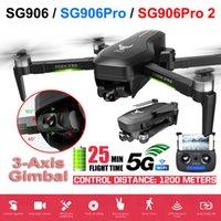 Drone SG906 / SG906 Pro 2 GPS con 3 Asse Self-Stabilizzazione Gimbal WiFi FPV 4K Camera Dron Brushless Drone Quadcopter ZLRC Beast LJ200827