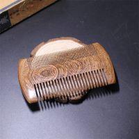 Green Sandalwood Pocket Beard Hair Combs Handmade Натуральная древесина Гребочка Антистатические Деревянные Волос Многофункциональные Инструменты для ухода за волосами 47 G2