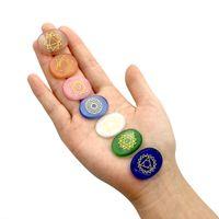 Opal Seven Chakra Branelli sciolti perline yoga Energia Guarigione di Guarigione Gioielli Pietra Making fai da te Collana Braccialetto di moda Accessori