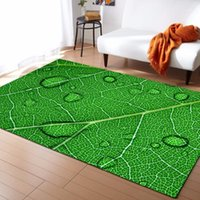 Alfombras grandes en 3D Hoja verde Vena de la manta Dormitorio Dormitorio Kids Play Play Memoria Memoria Área de espuma Alfombras Alfombras para la sala de estar Decorativos1
