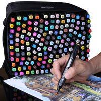30 40 60 80 80 168 ألوان الفن علامات فرشاة القلم رسم علامات القائم على الكحول رئيس المزدوج مانغا الرسم marcadores مجموعة للمصمم 201128