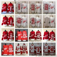 2021 Retro Detroit Red Wings Hockey 71 Dylan Larkin Jerseys 13 Pavel Datsyuk 59 Tyler Bertuzzi Steve Yzerman Gordie Howe Henrik Zetterberg