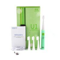 Lansing U1 بالموجات فوق الصوتية سونيك فرشاة الأسنان الكهربائية فرشاة الأسنان القابلة لإعادة الشحن مع 4 قطع رؤساء استبدال U1