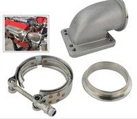 Turbocompresseur de 2,5 pouces en acier inoxydable en acier inoxydable à 90 degrés Coupée de bride jointe de la bride jointe TurboChargers