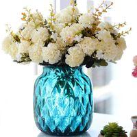 Декоративные цветы венки 10 головы / букет искусственный шарик хризантема цветок шелковый гортензия фальшивый завод Свадебные принадлежности DIY фестиваль
