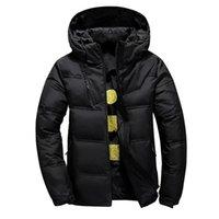 AKSR Homme Hiver Down Jacket Manteau Blanc Duck Down Down Vestes avec une cagoule Thermique thermo-veste thermique épaisse veste gonflée Doudoune Homme 201130