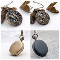 Nuevo reloj de bolsillo brillante de tamaño medio 40mm collar de 40 mm mariposa pájaro joyería retro al por mayor edición coreana suéter cadena de moda reloj de moda