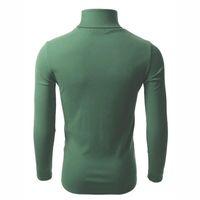 Camisola casual masculina camisola de manga comprida Masculino malha Tartaruga Pescoço Turtleneck Cor Sólida Knitwear Tops 005