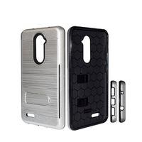 Hybrid-Rüstungsgehäuse Kickstand gebürstet Kreditkartensteckplatz für LG Aristo 2 Metropcs für ZTE Blade Z MAX Z982 Metropcs Protection Phone