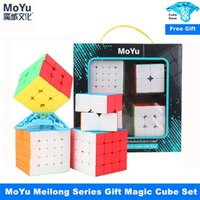 Moyu meilong 2x2x2 3x3x3 4x4x4 5x5x5 regalo de cubo mágico MOYU CUBE Set 2x2 3x3 4x4 5x5 velocidad Cube Puzzle Cubo Magico 201219