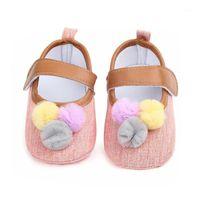 Детская обувь Летняя мода мяч девочка обувь классический холст хлопчатобумажная мягкая нижняя девушка первая Walker1