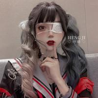 2020 Nueva peluca de lolita, pelo largo, afeitado de la cara, pelo largo y rizado, celebridades en línea, pelucas de colores encantadores 63 cm