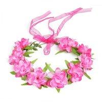 Yofeel 여자 옷감 꽃 웨딩 대회 축제 Birhtday 파티 헤어 액세서리 꽃 후프 모자 아이들의 요정 garland1