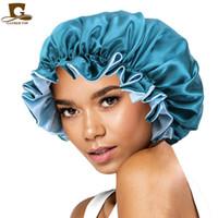 Yeni Ipek Gece Kap Şapka Çift Taraflı Kadın Kafa Kapak Uyku Kap Satin Bonnet Güzel Saç-Uyandırma Mükemmel Günlük GD1069