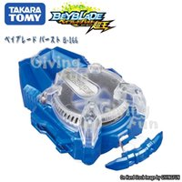 Genuine Takara Tomy Beyblade Burst Super King B-166 Detonação Girando Giroscópio à Esquerda Volta Lançador de Cordas Brinquedos para Crianças LJ201216
