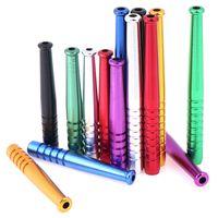 Multicolor Aleación de aleación de humo Tubería de humo Portátil Metal Sniffer Sniffer Straw Paja Nasal TUBO Sniffer Bullet Color Random