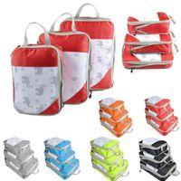 Сжимаемая сумка для хранения набор из трех частей сжатие Упаковка Cube Путешествия Багаж Организатор складной сумки для путешествий Организатор