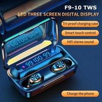 F9-10 TWS 무선 블루투스 5.0 이어폰 보이지 않는 이어폰 스테레오 시계 LED 소음 3 주도 3 개의 LED 전원 디스플레이가있는 게임 헤드셋