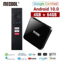 Mecool KM3 ATV AndroidTV Google Certifié Android 10 TV Box 4GB 64GB AMLOGIC S905X2 4K 2.4G 5G DUAL WIFI BT4.0 SET TOP BOX