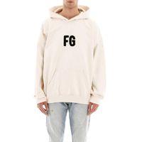 20SS FG Classic Lettre Serviette Broderie Sweats à Sweats High Street Hommes Femmes Sweat-shirt Spring Automne Automne à manches longues Pull à capuche HFYMWY489