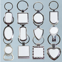 12 Styles Blank keychains For Sublimation Round Love Key Cha...