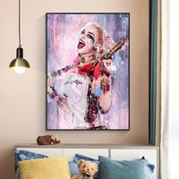 DC Comics Movie Poster Prints Sexy Girl Canvas Painting Harl...