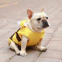 الكلب المعطف الأصفر المعطف لطيف صغير جرو معطف المطر للكلاب الكبيرة الملابس الحيوانات الأليفة للماء الفرنسية البلدغ المطر المعاطف XS-7XL عباءة 201030