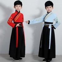 Сцена носить традиционные китайские танцевальные костюмы для мальчика Ming Opera детей древнее тан династия Цин Hanfu платье народные танцы DN49341