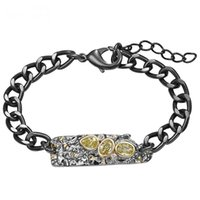 Novos pulseira pulseira com pingente de metal preto fresco para mulheres Olivine CZ moda jóias pulseira feminina wb1234 wb1234