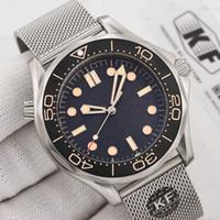 Керамическая Безель Мужская Мода Механическая автоматическая привод движения 300 м 007 James Bond Master Master Master NTO Designer Наручные часы Часы часов