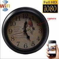 2020 Yeni Sıcak Yeni Zaman Saati 1080 P WIFI HD Ağ Güvenliği Houseeper ve Dadı Kamera Alarmı Kablosuz Kamera