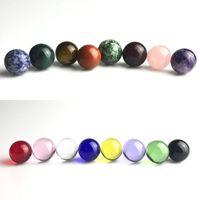 NUEVO 20 mm TERP Slurper Slurper Mármol Carb Cap Insertar con 16 colores Bola Beads Caps Mármoles naturales para cuarzo Fumar Banger Claves