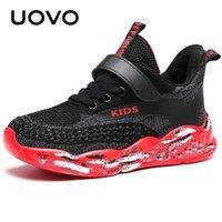 Uovo Kids кроссовки для мальчиков и девочек спортивные туфли осень дышащие сетки обувь мода детские кроссовки # 28-39 y201028