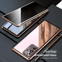 Anti Peeping Gizlilik 360 Durumda Samsung Galaxy Not 20 Ultra Kılıf Kapak Funda Metal Samsung S20 Ultra Telefon Kılıfları Için