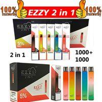 Ezzy Super 2in1 Dispositif de Vape jetable 6.5ml 2000 Système de POD portable Puff 2 en 1 Kit de stylo à vapeur sur 1 Stick suree