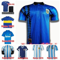 Maradona Soccer Jersey 1995 1981 1997 86 87 88 89 1986 1978 1994 1998 2006 2020 1978 1994 1998 2006 2020 Argentina Kid Boca Juniors Napoli Ретро футбол