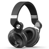 Écouteurs Écouteurs Écouteurs Bluedio T2 + pliable sur l'oreille Bluetooth BT 5. 0 FM Radio SD Fonctions de carte Musicphone Appels