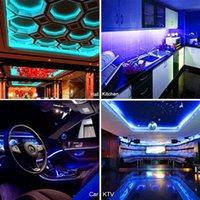 Entrega rápida 5M RGB 5050 impermeable LED tira luz SMD 44 Key Remoto WiFi Luz inalámbrica Luz de tira LED LED