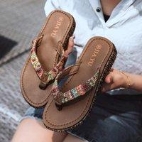 슬리퍼 Weibate 여름 숙녀 야외 플립 플롭 레저 트렌드 짠 해변 신발 Boho 스타일 미끄럼 방식 미끄럼 방식 슬리퍼 1
