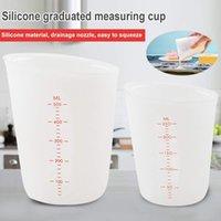 500ml 실리콘 측정 컵 유연한 초콜릿 버터 밀가루 측정 컵 주방 측정 컵 비커 베이킹 도구 액세서리