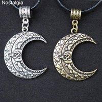 Nostalgia om Yoga Moon Collier Wicca Pagan Mandala Lotus Fleur Spiritual Bijoux Spiritual Pendentif