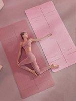 Rutschfeste Verdickung umweltfreundliche tragbare TPE-Yoga-Matte mit freier Tragegurt und Tasche 72 x 24 x 0,24 Zoll1830 * 610 * 6mm LJ201218