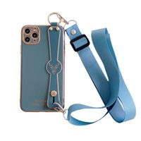 Для iPhone 12 11 Pro Max XS MAX XR X 8 PLUS Чехол для телефона PLACKETPTPU Крышка с держателем руки для рук