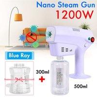 110 220V 1200W 300+500ML Disinfection Blue Light Nano Steam Gun Hair Spray Machine Ultra Fine Aerosol Water Mist Trigger Sprayer