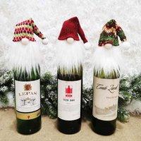 التماثيل عيد الميلاد زجاجة النبيذ غطاء زجاجة النبيذ الأحمر شعرية عيد الميلاد قبعة عيد الميلاد الحلي هدايا عيد الميلاد HH9-3597