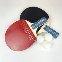 테이블 테니스 Raquets 2 조각 스포츠 용품 정품 더블 물고기 226A / 236A Racket 초보자 용